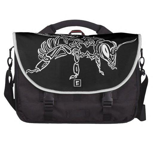 """Bee Spirit"" ver2- Surreal tribal bee totem animal Laptop Bags"