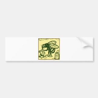 Bee Standing Bumper Sticker