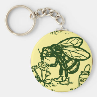 Bee Standing Keychain