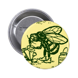 Bee Standing Pinback Button