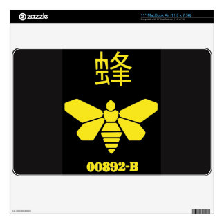Bee stencil label from a barrel MacBook air decal