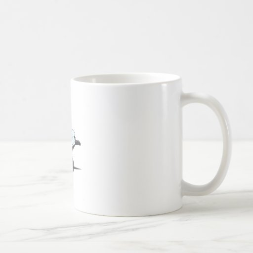 Bee Stickers : Bee Presenting with Hand Up Mugs