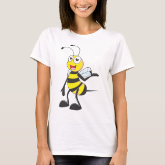 Bee Stickers : Bee Presenting with Hand Up T-Shirt
