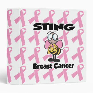 bee sting breast cancer awarness notebook binder