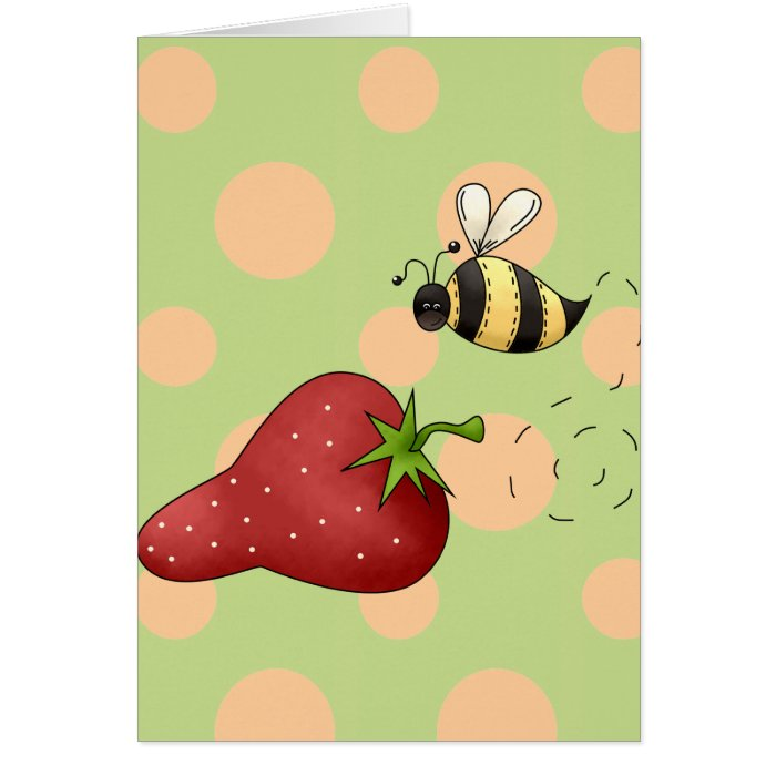 Bee Strawberry Card