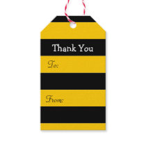 Bee Stripes Thank You Gift Tags