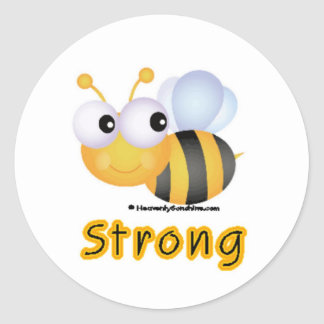 BEE Strong Round Stickers