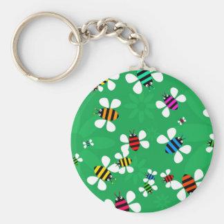 Bee Swarm Basic Round Button Keychain
