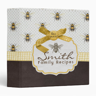Bee Sweet Recipe Binder