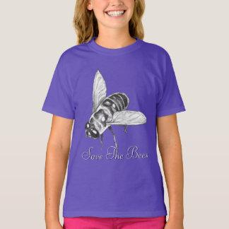 Bee T-shirt Honeybee Shirt Save the Bees Organic T