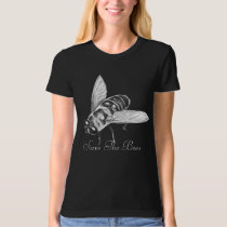 Bee T-shirt Honeybee Shirt Save the Bees Organic T