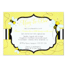 """BEE THEMED - Baby Shower Invitation - Mom to """"Bee"""""""
