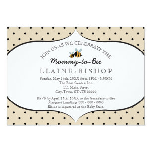 Mommy to bee invitations announcements zazzle bee themed baby shower invitation mommy to bee filmwisefo Choice Image