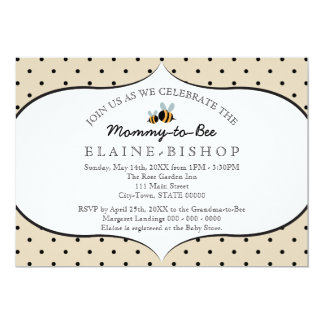 Bee Themed - Baby Shower Invitation - Mommy to Bee