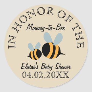 Bee Themed Baby Shower Stickers - Mommy-to-Bee