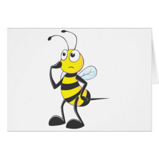 Bee Thinking Greeting Cards