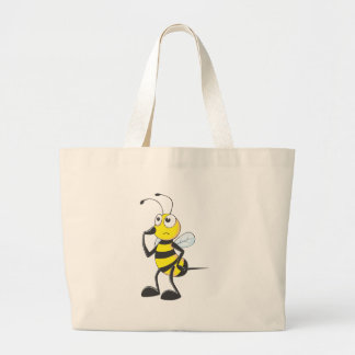Bee Thinking Large Tote Bag