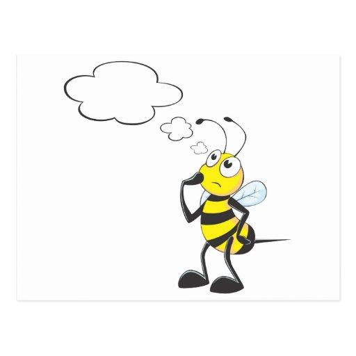 Bee Thinking Postcard
