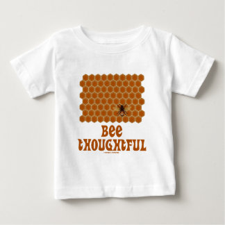 Bee Thoughtful (Bee On Honeycomb Background) Baby T-Shirt