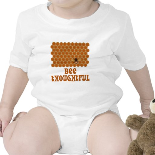Bee Thoughtful (Bee On Honeycomb Background) T Shirts
