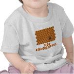 Bee Thoughtful (Bee On Honeycomb Background) Tee Shirts
