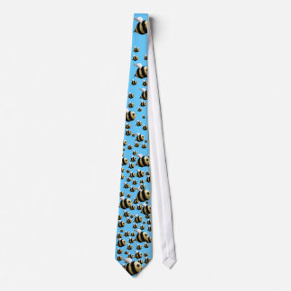 Bee Tie in Blue