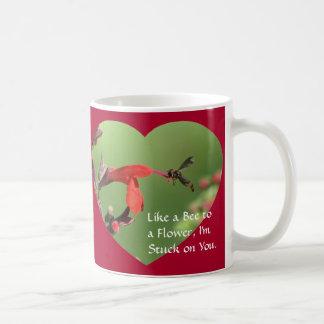 Bee to Flower Valentine Mug