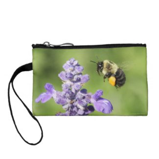 BEE to Purple Flower Key Coin Clutch