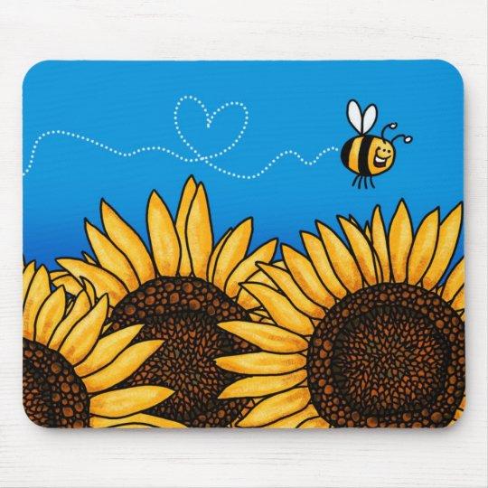 bee trail sunflower mousepad