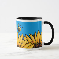 bee trail sunflower mug