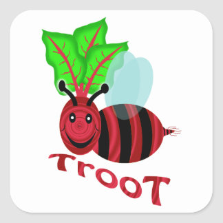 bee troot square sticker