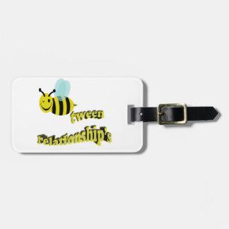 bee tween relationships luggage tag