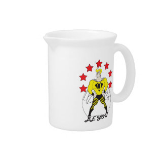 Bee U (Be You) white or red stars Pitcher