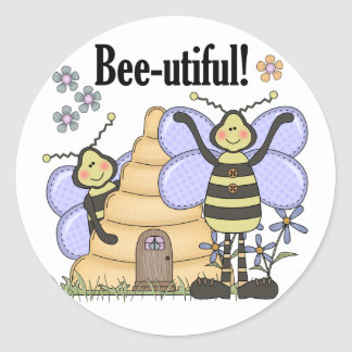 Bee-utiful Bumblebees Classic Round Sticker
