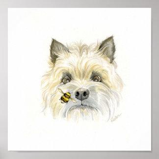 Bee-utiful Cairn Terrier Poster