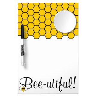 Bee-utiful! Dry Erase Board with Mirror
