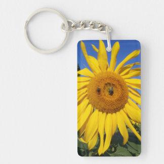 Bee-utiful Sunflower Keychain