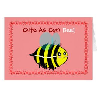 Bee Valentine Card