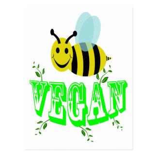 bee vegan postcard