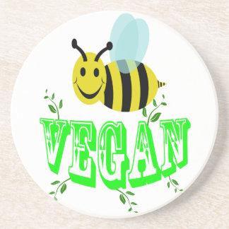 bee vegan sandstone coaster