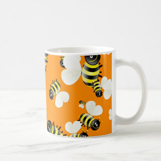 Bee Wallpaper Coffee Mugs