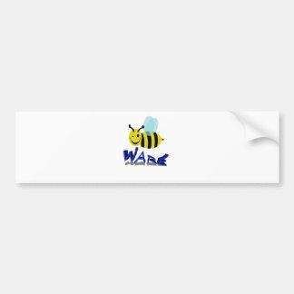 bee ware car bumper sticker