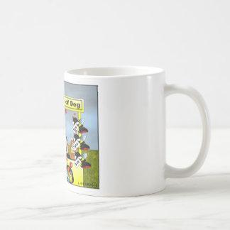 Bee Ware of Dog Cartoon Mug