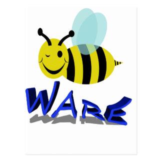 bee ware postcard