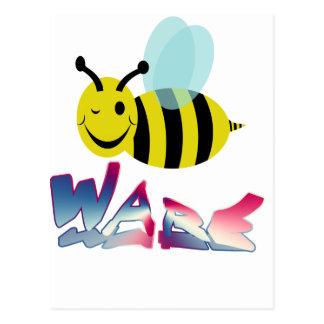 bee ware watchout postcard