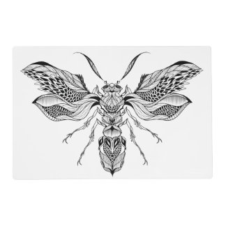 Bee-Wasp Tattoo Placemat
