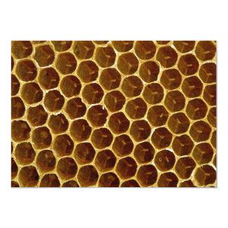 "Bee wax comb 5"" x 7"" invitation card"