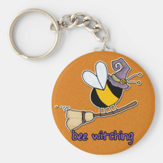 bee witching basic round button keychain