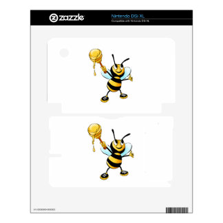 Bee with a honey spoon cartoon DSi XL decals