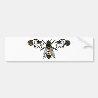 bee with clover bumper sticker